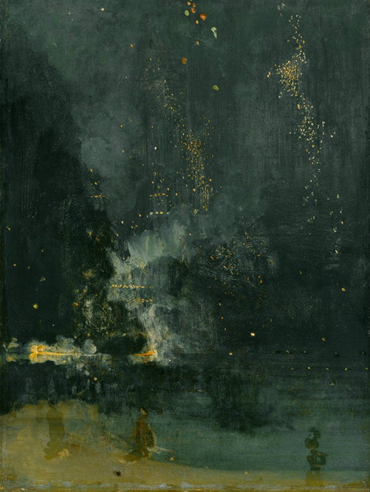 James Abbott McNeill Whistler, Nocturne in Black and Gold, the Falling Rocket,