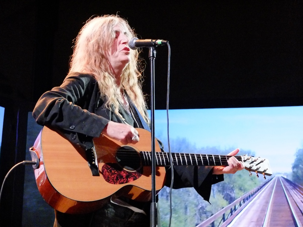 "Patti Smith, performing a powerful cover of Neil Young's ""It's a Dream."""