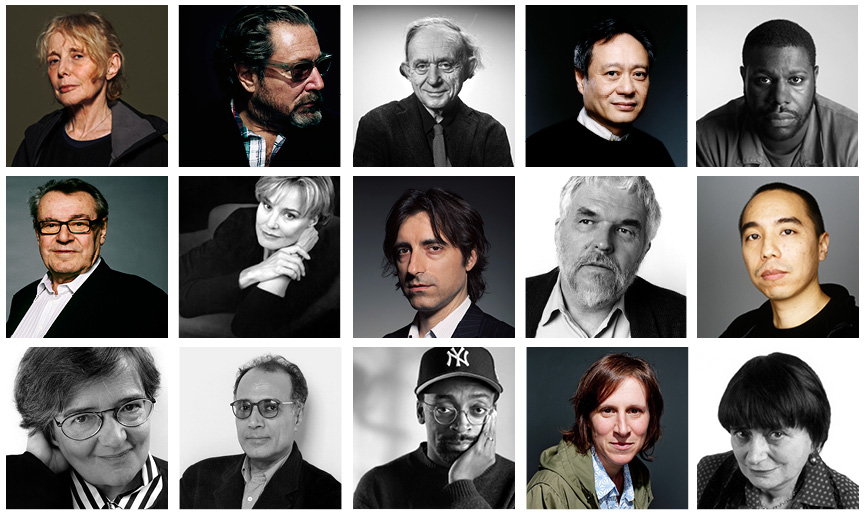 A selection of the filmmakers who have taken part in the Dialogues and Film Retrospectives series at the Walker. Top, left to right: Claire Denis, Julian Schnabel, Frederick Wiseman, Ang Lee, Steve McQueen Middle, left to right: Miloš Forman, Jessica Lange, Noah Baumbach, Stan Brakhage, Apichatpong 'Joe' Weerasethakul Bottom, left to right: Agnieszka Holland, Abbas Kiarostami, Spike Lee, Kelly Reichardt, Agnès Varda