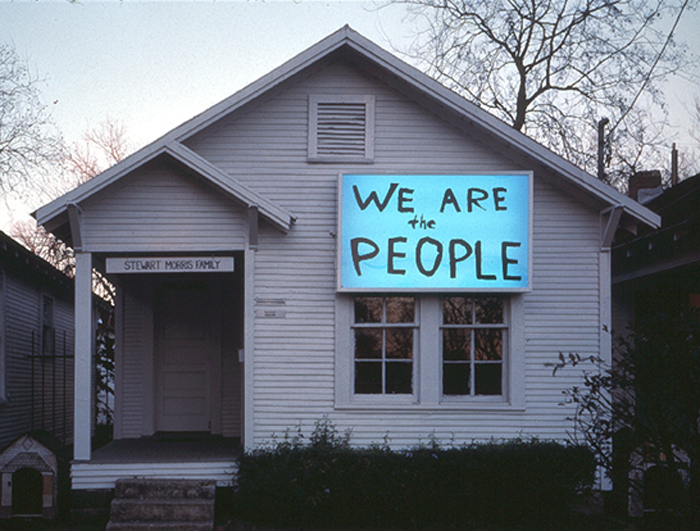 Sam Durant's installation We Are the People at Project Row Houses in 2003. Photo: Rick Lowe, courtesy Project Row Houses