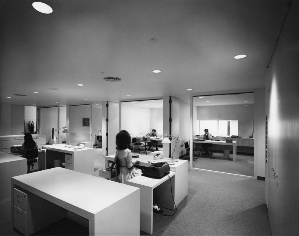 Barnes building office suite, 1971 for Design Quarterly # 81, 1971