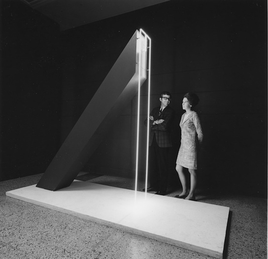 Using light as an artistic medium within Light/Motion/Space. UNTITLED (1966) by Ben Berns.