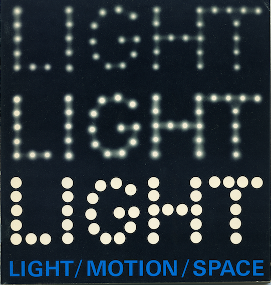 Cover of Light/Motion/Space catalogue.