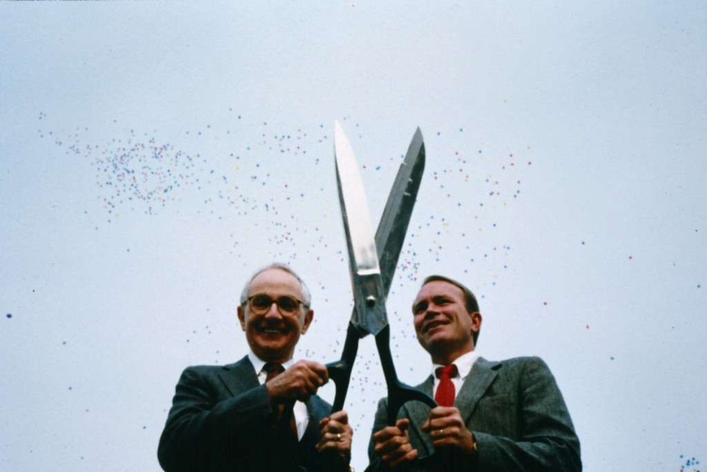 Martin Friedman and David Fisher, Minneapolis Sculpture Garden Opening,  Dedication Ceremony Ribbon Cutting, 10 September 1988