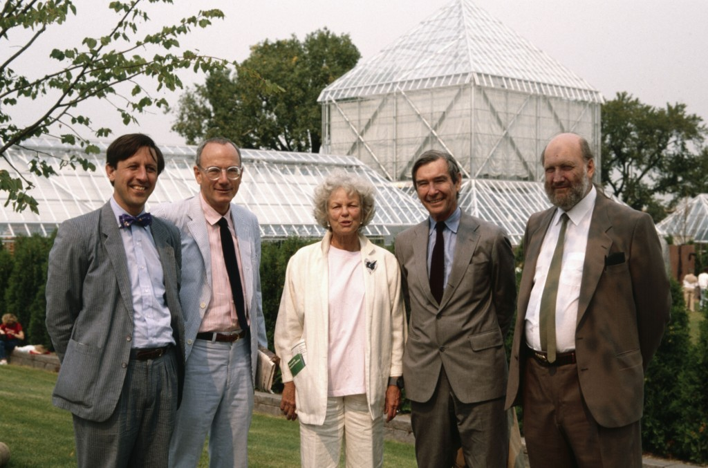 Peter Rothschild, John and Sage Cowles, E.L. Barnes and Alistair Bevington, Minneapolis Sculpture Garden Opening, 10 September 1988