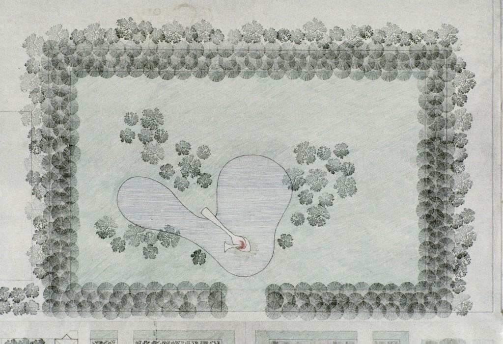 Minneapolis Sculpture Garden plans, Edward Larrabee Barnes & Associates with Peter Rothschild