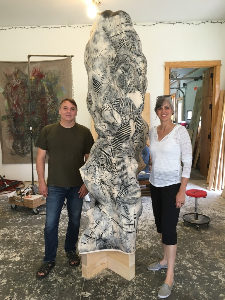 Mark Manders with Olga Viso
