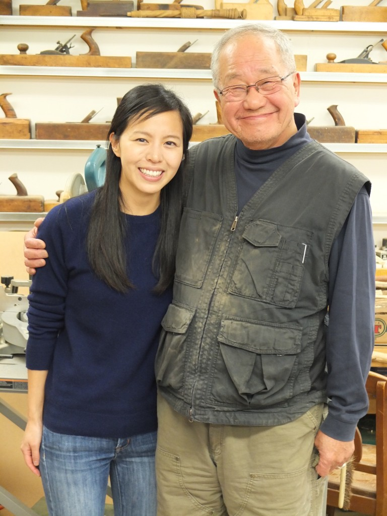 Curatorial Assistant with Kinji Akagawa in his Afton, Minn., studio. Photo: