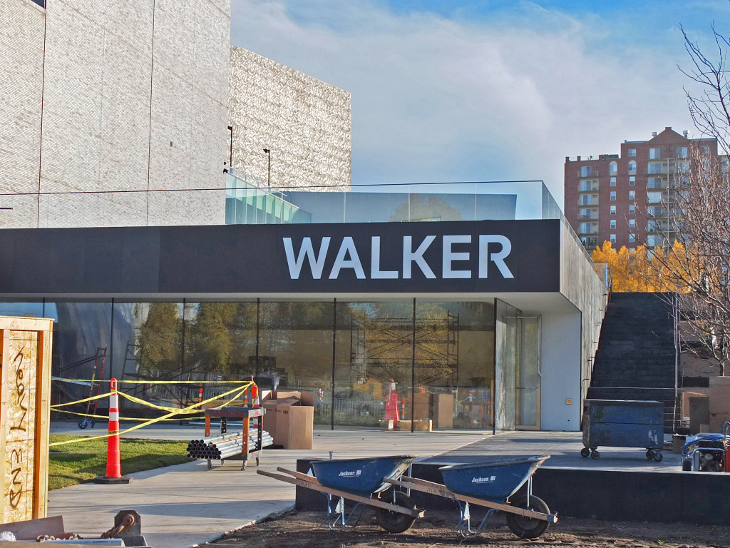 The new Walker sign, installed on the Vineland Place entry, just above the windows of Esker Grove. Photo: Paul Schmelzer