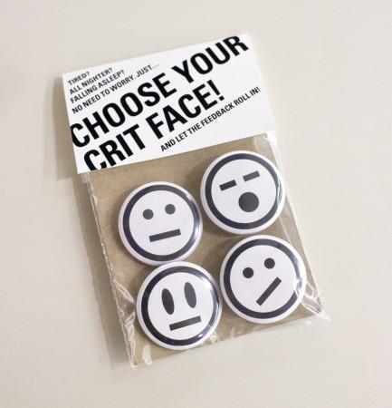 Crit Face Button Set