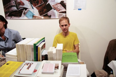 David Reinfurt at Printed Matter's New York Art Book Fair
