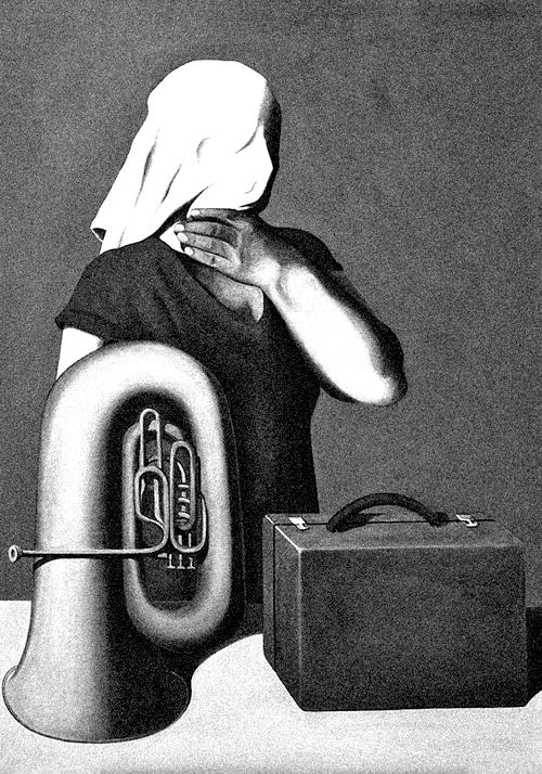 René Magritte, L'histoire centrale (The Central Story), 1928