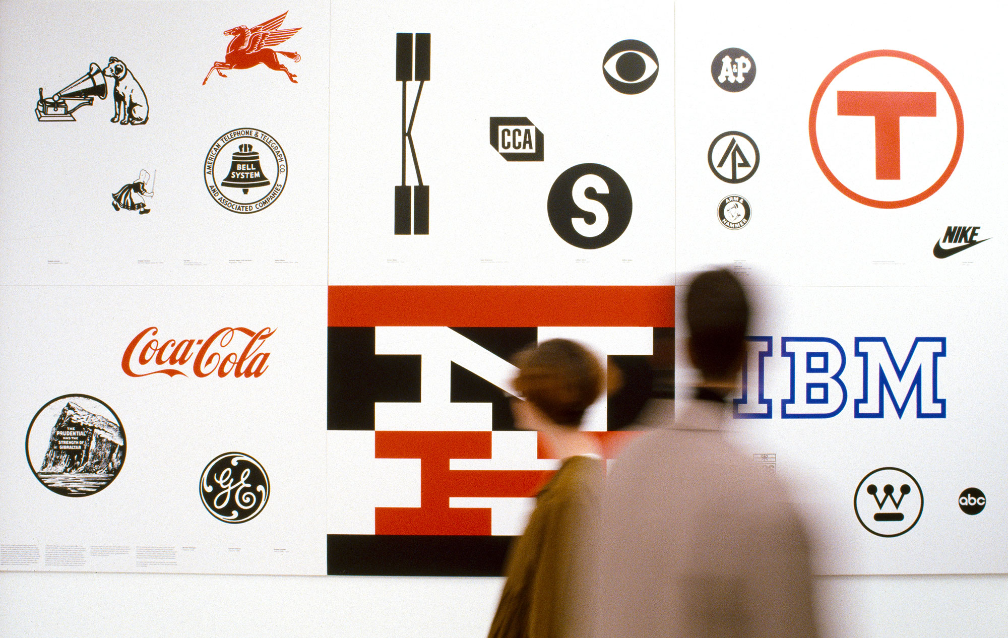 Exhibition view of Graphic Design in America: A Visual Language History, 1989