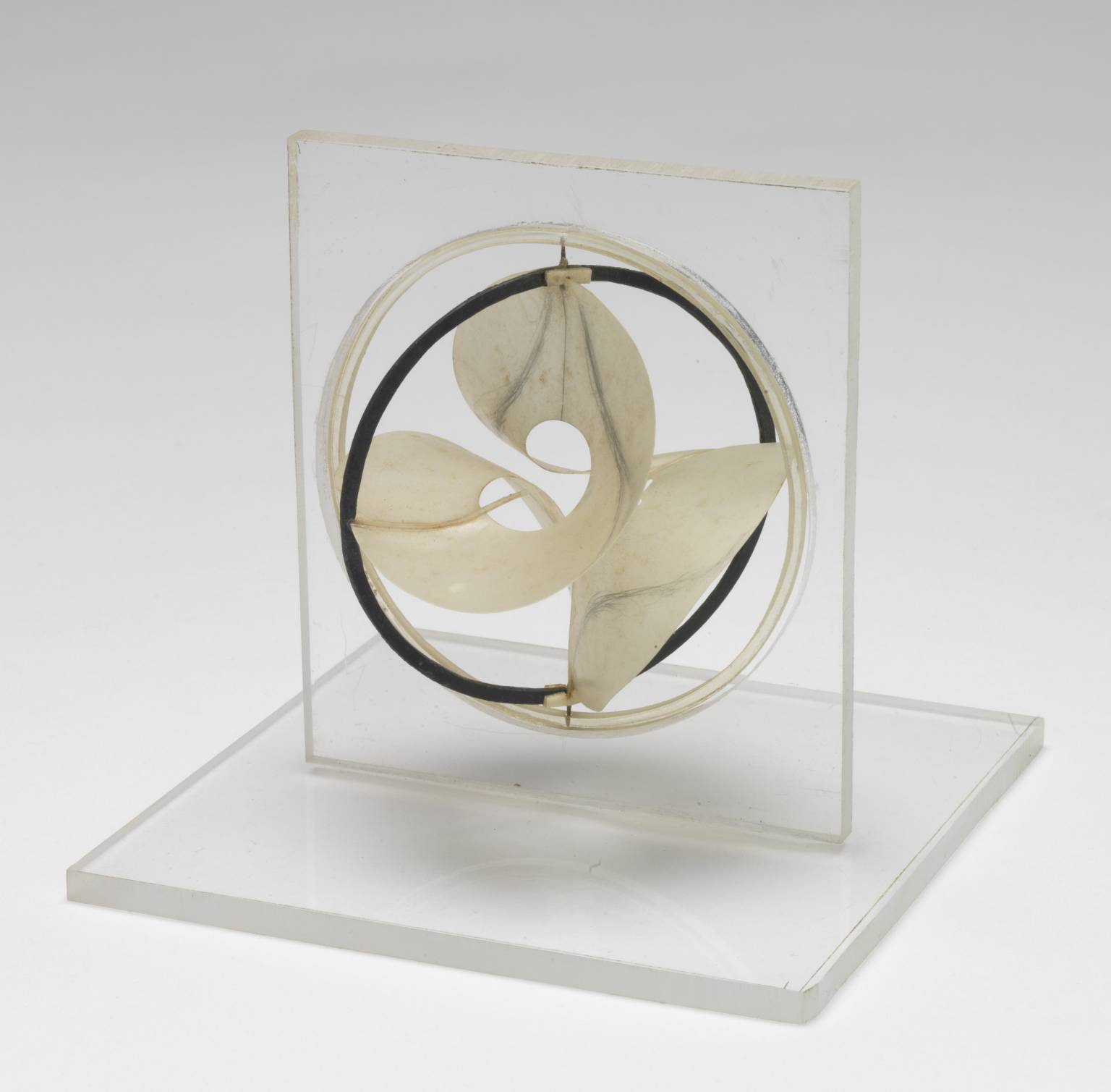 Model for 'Monument to the Astronauts' circa 1966-8 by Naum Gabo 1890-1977