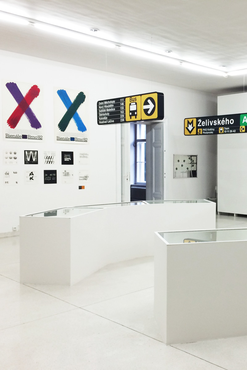 "The exhibition ""Personalities in Czech Graphic Design"" showed a retrospective on Czech designer Rostislav Vaněk"