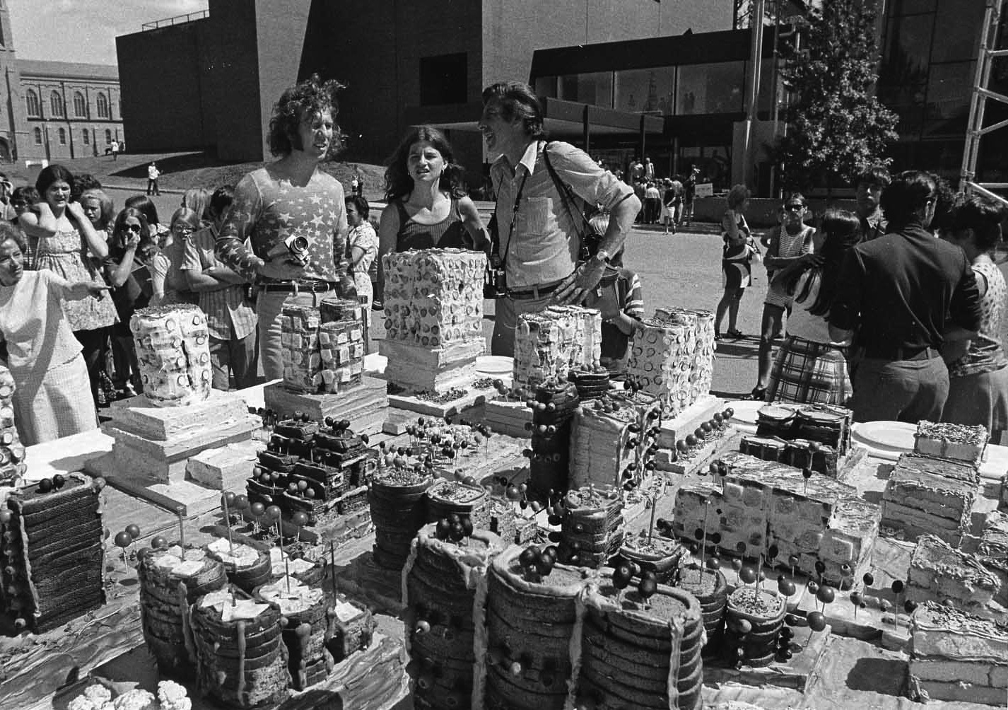 Food City by Haus-Rucker-Co. in the Armory Gardens, June 13, 1971. Tom Berthiaume for Walker Art Center
