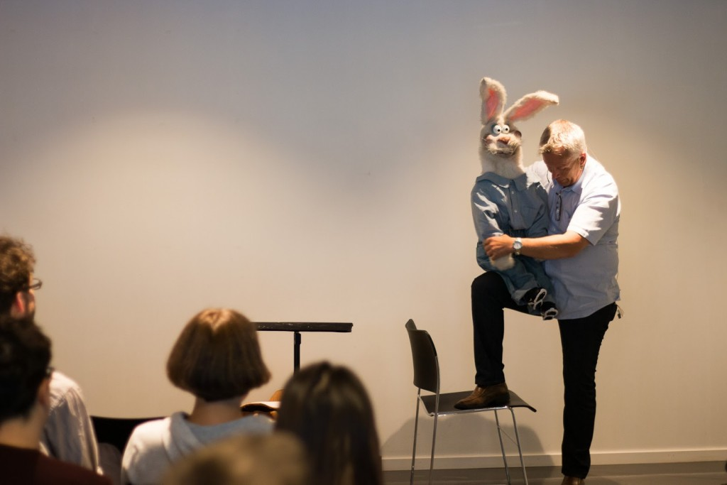 TVSS Public Programme 2015: Jan-Robert Henriksen presenting one of his characters.