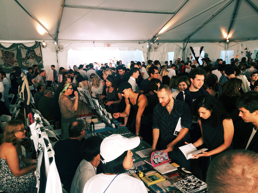 Printed Matter's NY Art Book Fair / zine tent [pic Paul Soulellis]