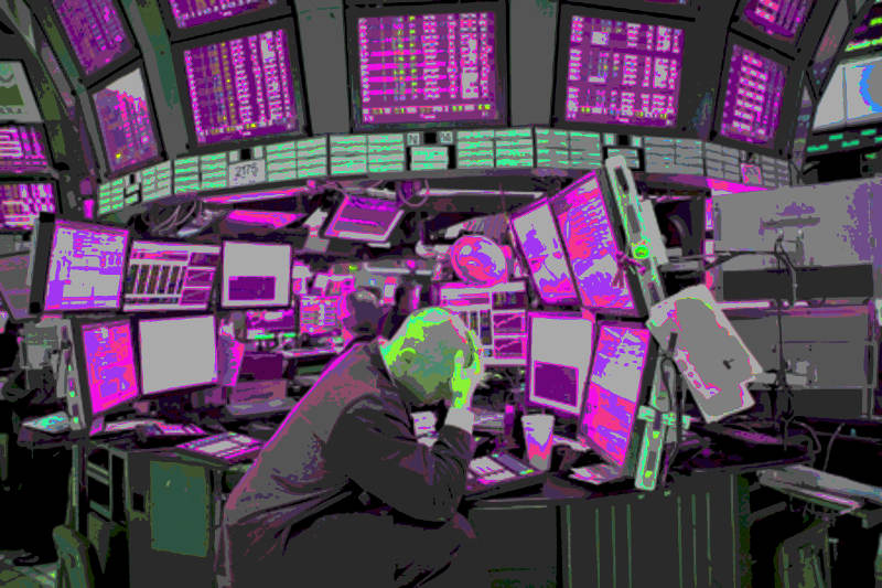Suzanne Treister, HFT The Gardener video still, High Frequency Trading Floor, 2014-15
