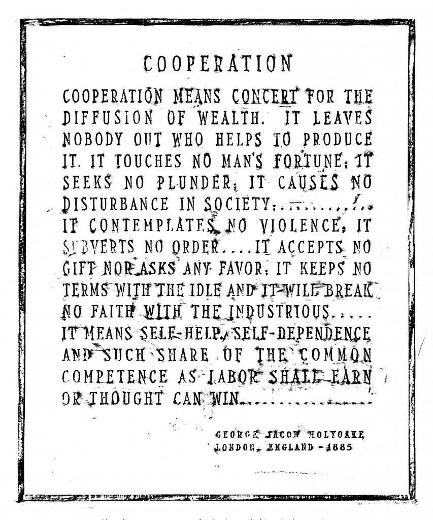Brass rubbing of a monument to cooperation found on the grounds of Seward Park Housing Corporation (corner of Montgomery and Grand Streets on the lower east side of Manhattan), Will Holder, 2007