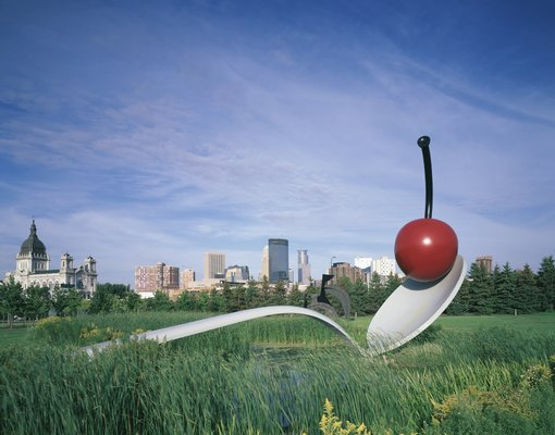 Spoonbridge and Cherry by Claes Oldenburg and Coosje van Bruggen