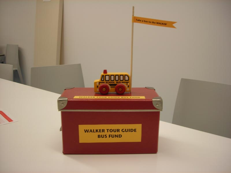 Tour Guide Bus Fund Donation Box