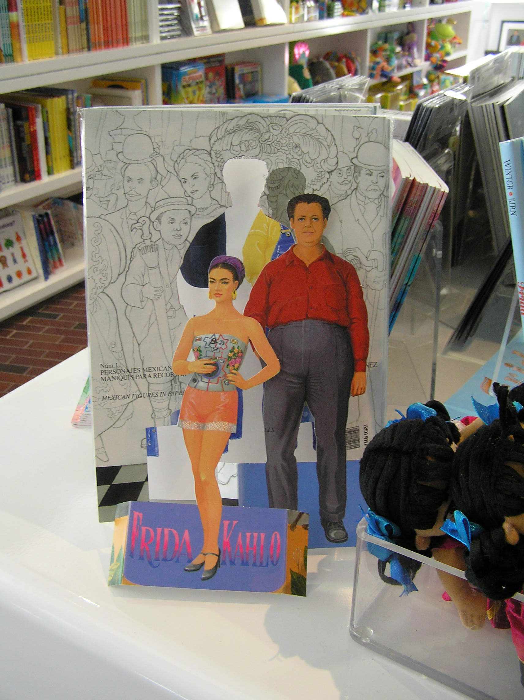 Frida and Diego paper dolls.
