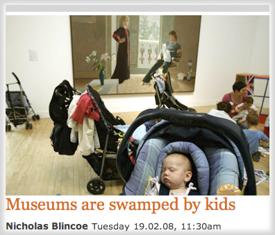 Museums are Swamped by Kids