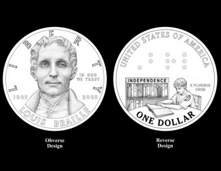 The new Braille coin