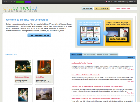 ArtsConnectEd Homepage