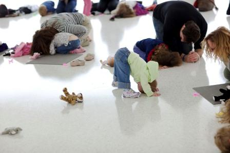 Kids make yoga look so easy.