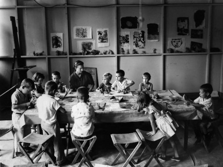 Art class from the Walker's early days