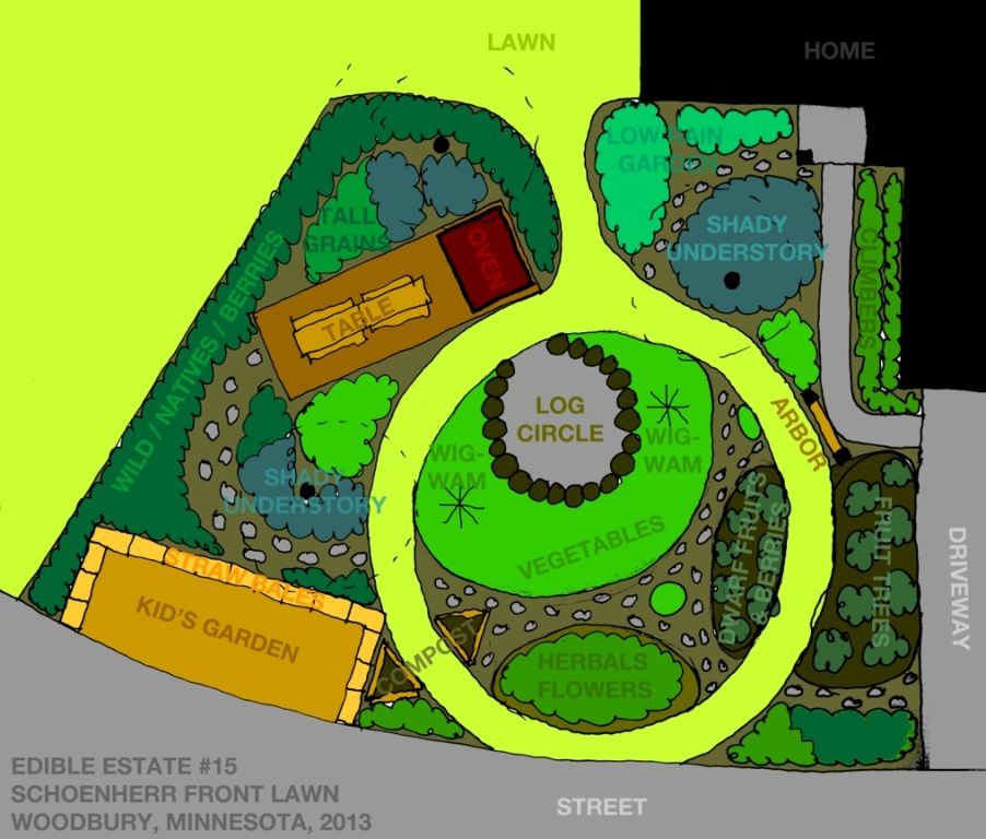 Front Yard Edible Garden Ideas from lawn to garden: edible estate #15