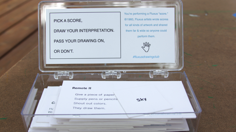 fluxus drawing club score box