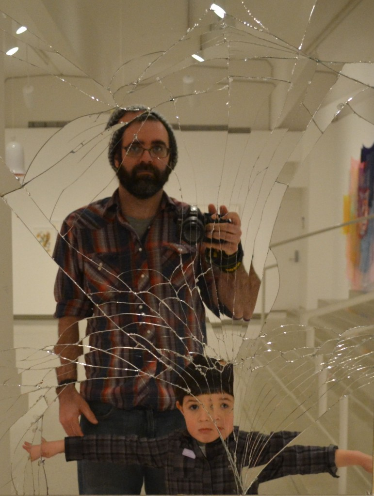 <i>DiNino Father and Son Portrait in a Jim Hodges Piece </i>(2014). Submitted by Ben DiNino.