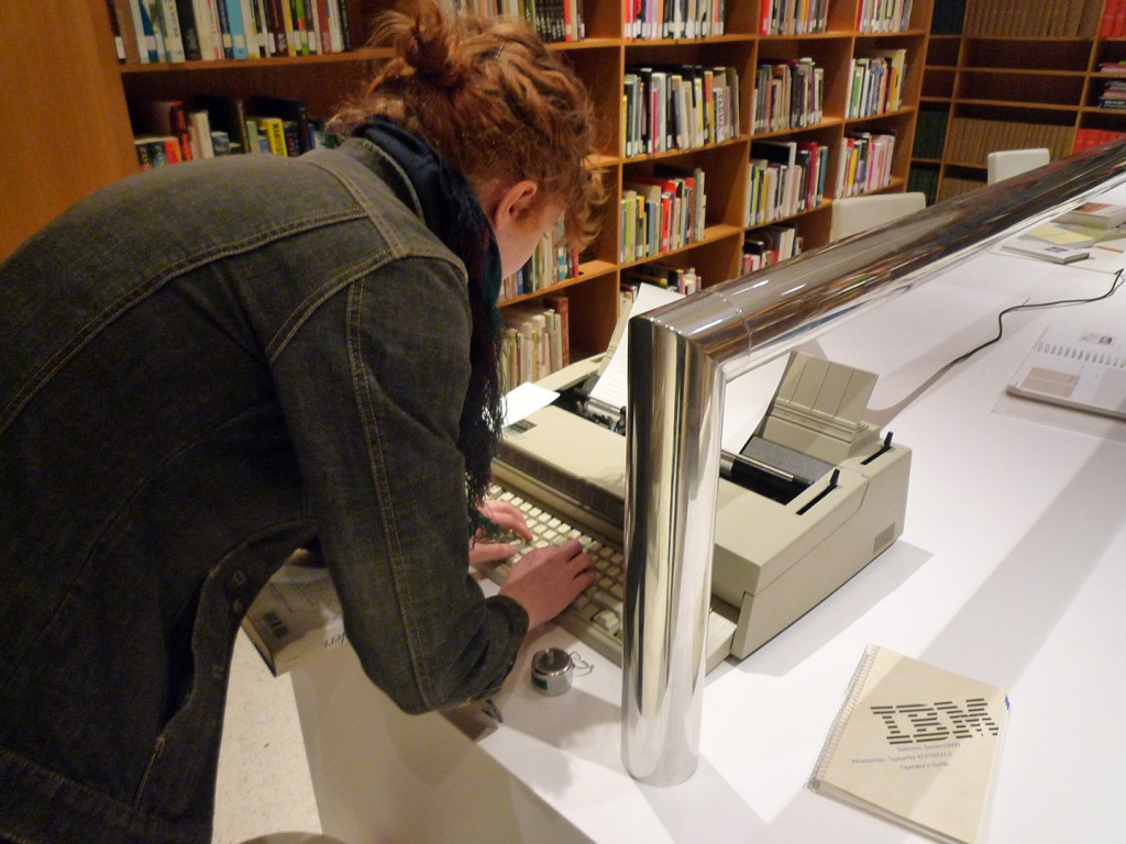 A Fluxus poetry project in the library