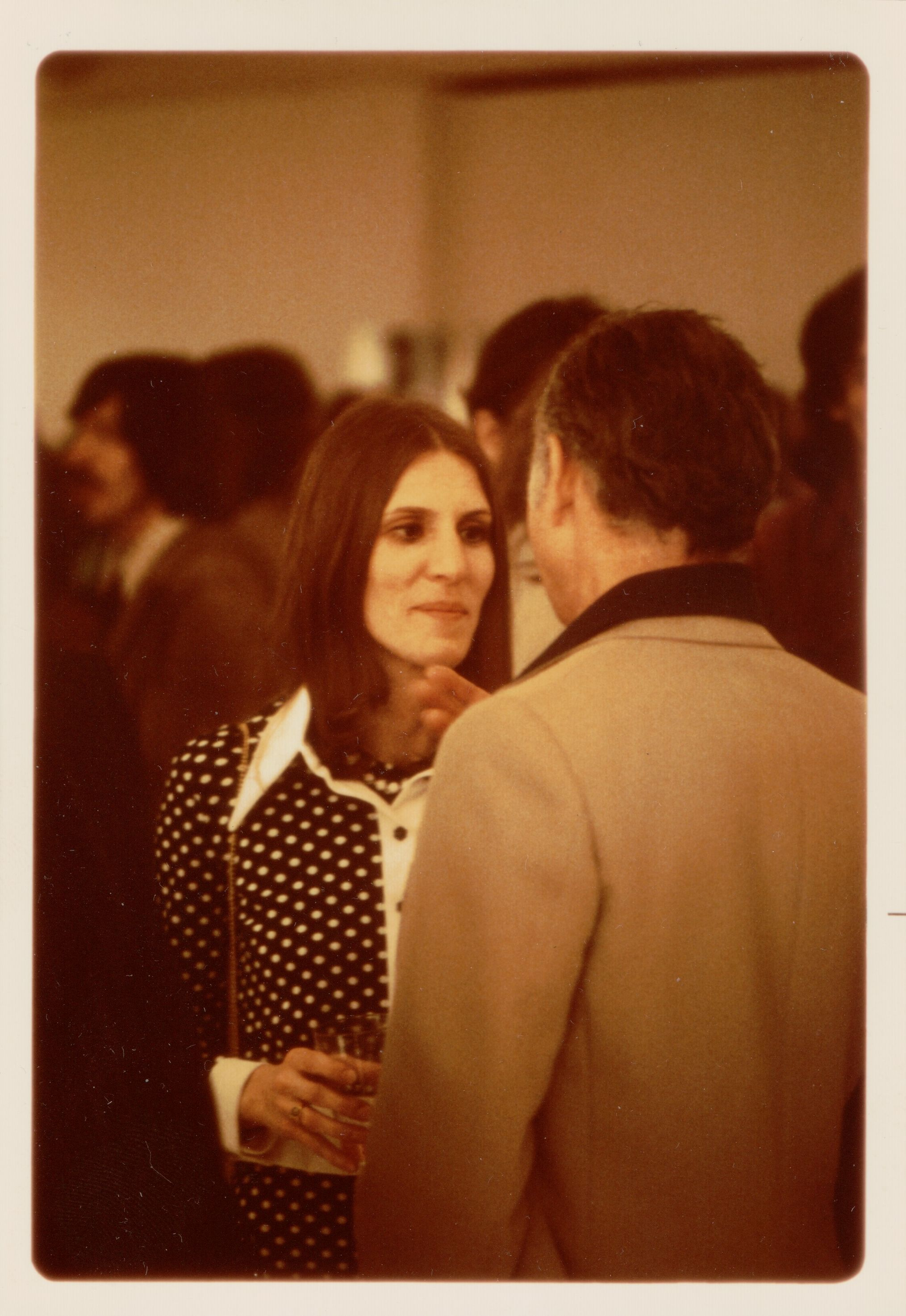 <i>Mary Ann Nord with Ellsworth Kelly</i> (1974). Submitted by Mary Ann Nord