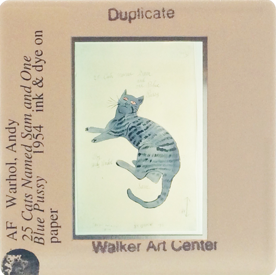 Andy Warhol slide from the Walker Art Center Archives