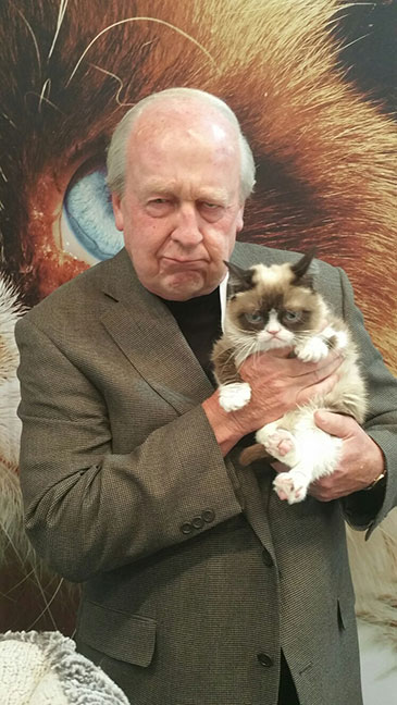 Jim Davis (Garfield creator) and Grumpy Cat