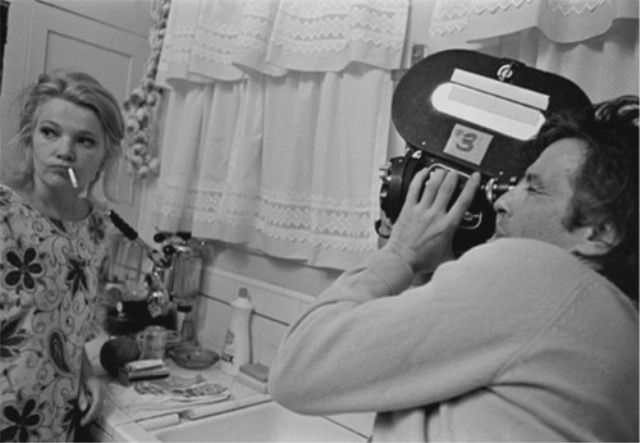 John Cassavetes and Gena Rowlands on the set of A Woman Under the Influence