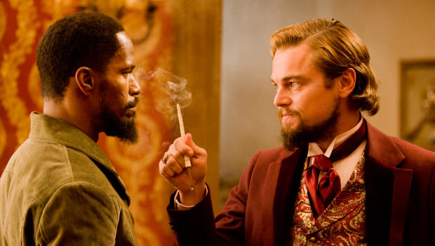 Jamie Foxx and Leonardo DiCaprio. Image © The Weinstein Company.