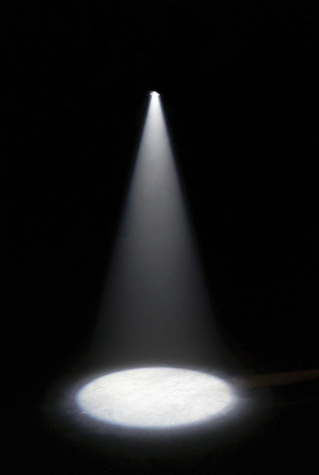 David Lamelas, Limit of a Projection I, 1967, theater spotlight in darkened room