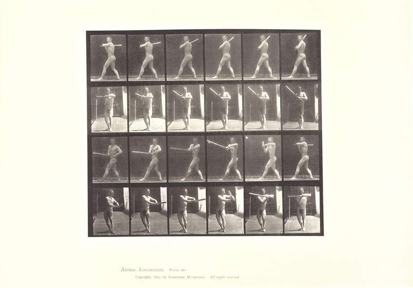Eadward Muybridge, Baseball, Batting Plate #274 from Human and Animal Locomotion. Collotype on paper, 1887. Courtesy of the Walker Art Center.