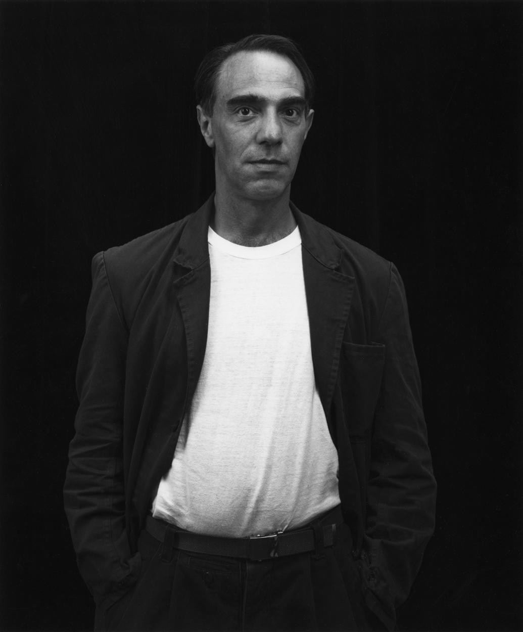 Derek Jarman during his visit to the Walker in 1986