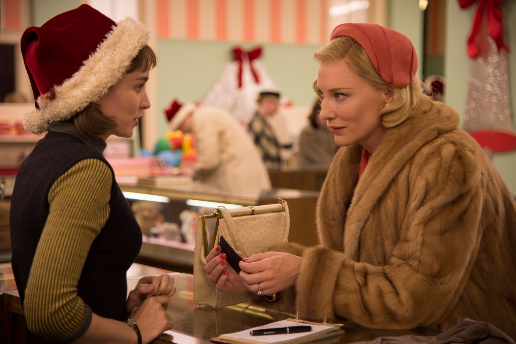 Rooney Mara and Cate Blanchett in Carol.