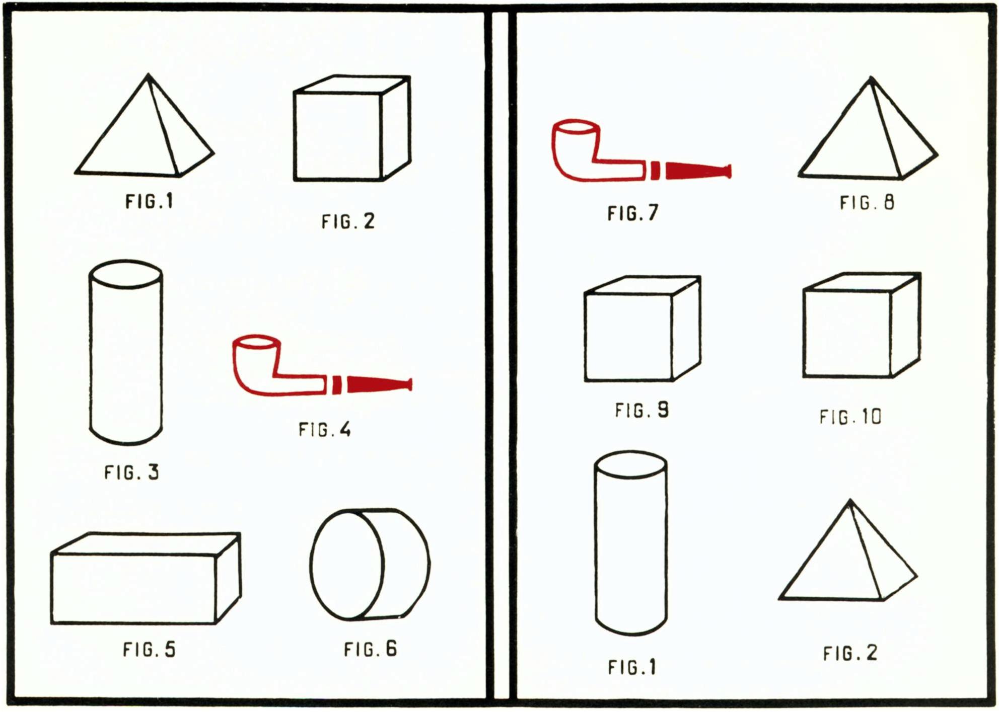 Marcel Broodthaers, Pipe et Formes Academiques,1969-70