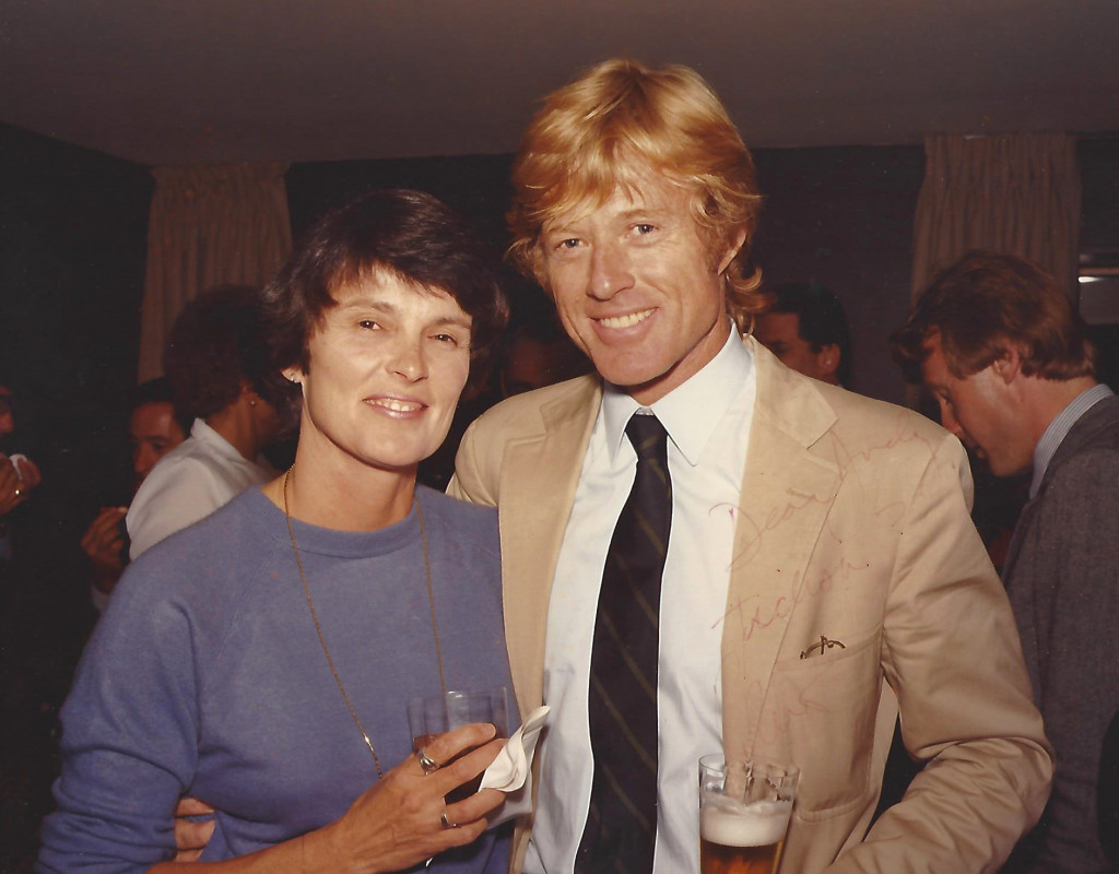 Judith Guest and Robert Redford on the set of Ordinary People, Chicago, 1980. Photo courtesy the author