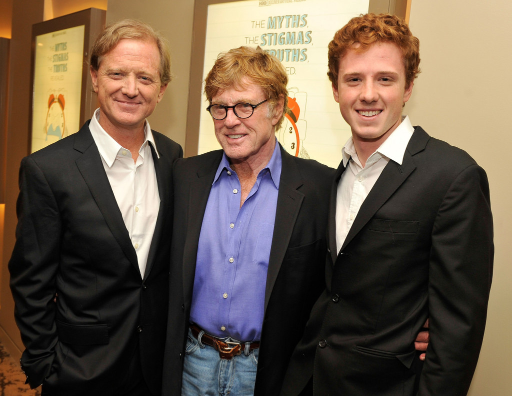 James, Robert, and Dylan Redford at the premiere of The Big Picture: Rethinking Dyslexia, a documentary directed by James Redford with Dylan as its subject, October 25, 2012. Photo: Stephen Lovekin/Getty Images for HBO