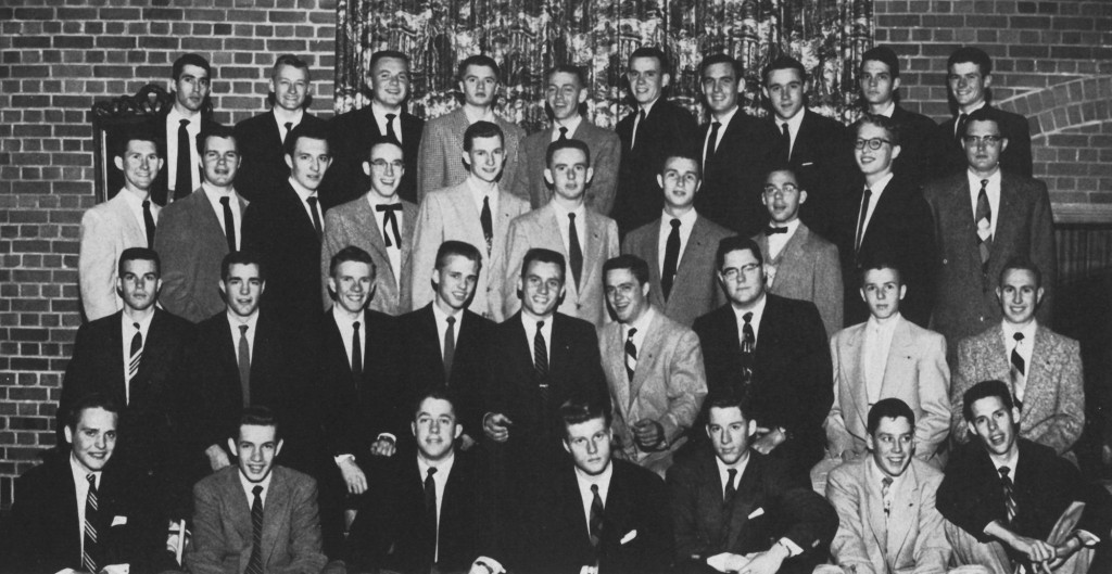Robert Redford (front row, center) as a student at the University of Colorado at Boulder. Photo: UC-Boulder Alumni