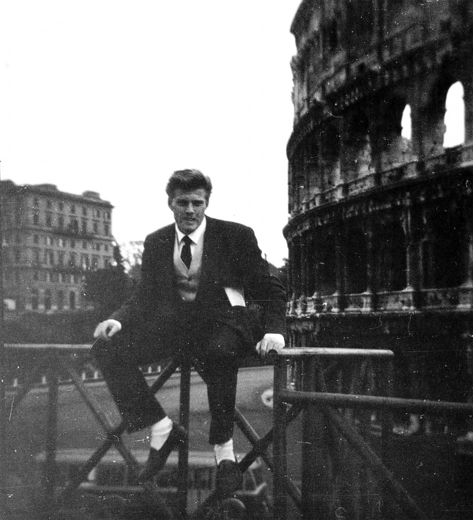 Robert Redford in Rome, c. 1956. Photo courtesy the artist